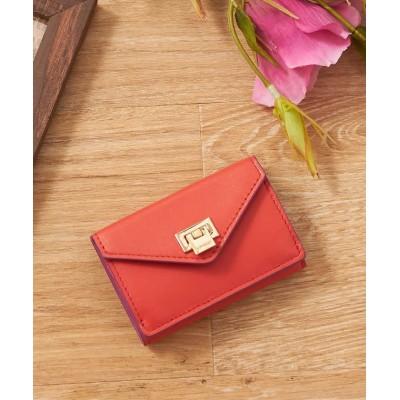 (LOWELL Things/ロウェルシングス)薄型三つ折り財布/レディース ピンク