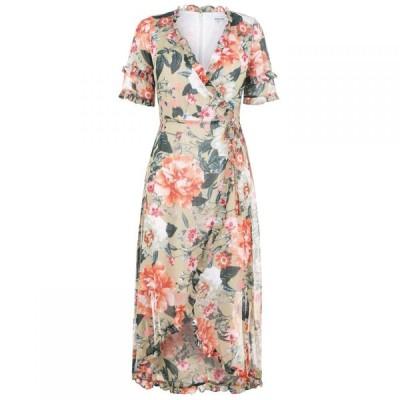 ケンジー Kensie レディース ワンピース ラップドレス ワンピース・ドレス Wrap Dress SAGE MULTI