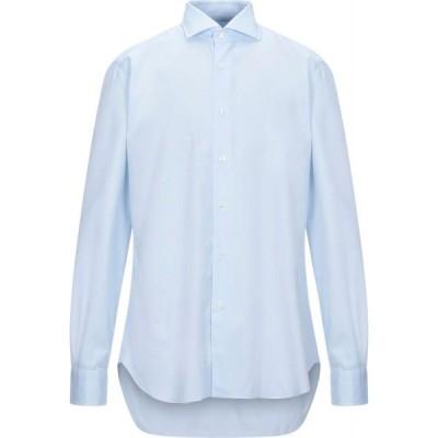 バルバ BARBA Napoli メンズ シャツ トップス solid color shirt Sky blue