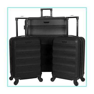 【新品】TPRC 3 Piece Luggage Set, Black(並行輸入品)