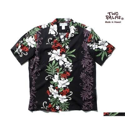 トゥーパームス TWO PALMS アロハシャツ レーヨン ハワイアンシャツ (TWOPALMS-BLACK-PANEL)