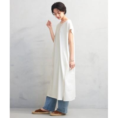 【HAPPY急便 by VERITA.JP】 異素材切替ワンピース レディース ホワイト 【M】 HAPPY EXP