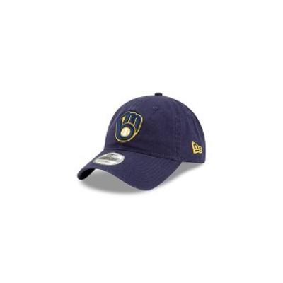 ニューエラ レディース 帽子 アクセサリー Men's Milwaukee Brewers On Field Replica 9TWENTY Cap Navy