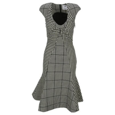 マリーン セル レディース ワンピース トップス Marine Serre Houndstooth Pattern Dress -