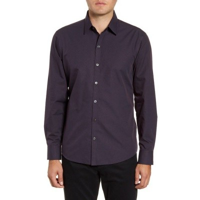 ザッカリープレル シャツ トップス メンズ McCune Regular Fit Dobby Button-Up Sport Shirt Navy