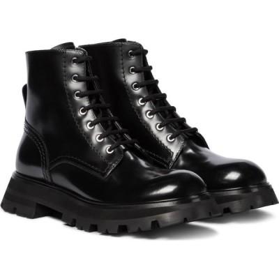 アレキサンダー マックイーン Alexander McQueen レディース ブーツ ショートブーツ シューズ・靴 wander leather ankle boots Black