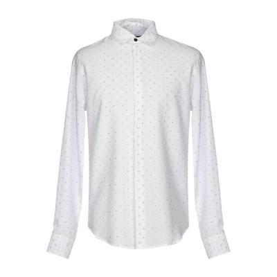 BYBLOS 柄入りシャツ ファッション  メンズファッション  トップス  シャツ、カジュアルシャツ  長袖 ホワイト