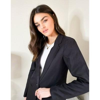 ヴィラ レディース ジャケット・ブルゾン アウター Vila tailored blazer in black