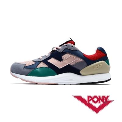 【PONY】BOUNCE系列-復古運動鞋 老爹鞋 潮流 球鞋 女款 藍色