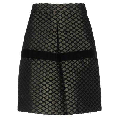 FRACOMINA ひざ丈スカート ミリタリーグリーン 40 アクリル 54% / アセテート 24% / ポリエステル 22% ひざ丈スカート