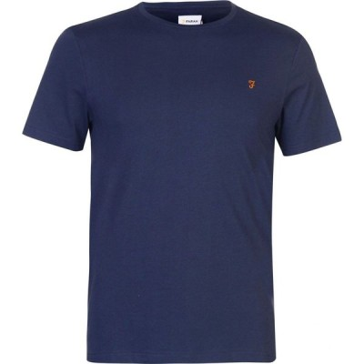 ファーラーヴィンテージ Farah Vintage メンズ Tシャツ トップス Denny Short Sleeve Tee Navy