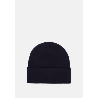 ピアワン 帽子 メンズ アクセサリー Beanie - dark blue