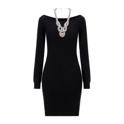 モスキーノ MOSCHINO ミニワンピース&ドレス ブラック 38 カシミヤ 50% / バージンウール 50% ミニワンピース&ドレス