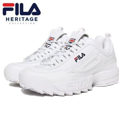 フィラ FILA スニーカー 厚底 白 メンズ レディース ユニセックス DISRUPTOR 2 F0215