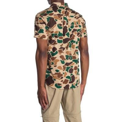 ノースフェイス メンズ シャツ トップス Baytrail Camo Short Sleeve Shirt HAWTHORNEK