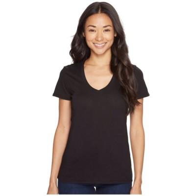 モドオードック Mod-o-doc レディース Tシャツ Vネック トップス Supreme Jersey Fitted S/S V-Neck Black