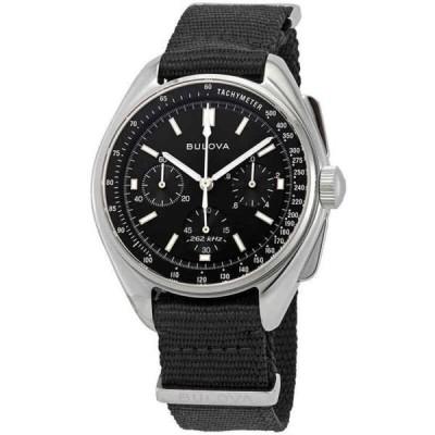 腕時計 ブローバ メンズ Bulova Special Edition Lunar Pilot Chronograph Black Dial Men's Watch 96A225