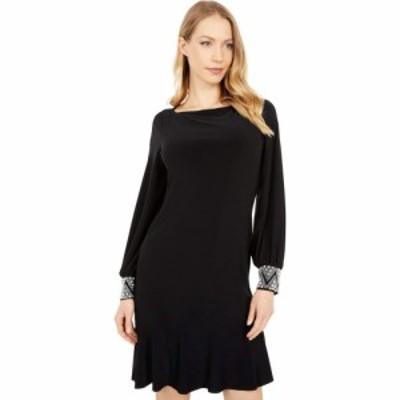 マリナ MARINA レディース ワンピース ワンピース・ドレス Beaded Cuff Dress Black