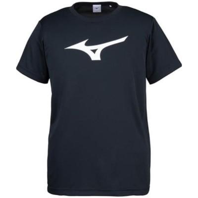 【1点限りゆうパケット対応】 MIZUNO(ミズノ)  Tシャツ[ユニセックス]  32JA815509:ブラック×ホワイト