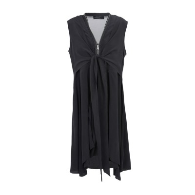 ALLSAINTS ミニワンピース&ドレス ブラック L シルク 100% ミニワンピース&ドレス