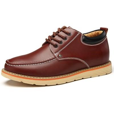 [Fainyearn] シークレットシューズ カジュアルシューズ メンズ靴 シークレット革靴 紳士靴 レースアップ ビジネスシューズ 通勤背が高くな
