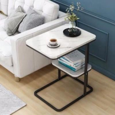 ベッドサイドテーブル 置台 .大理石サイドテーブル ナイトテーブル 高級感 アンティーク風 ソファーテーブル