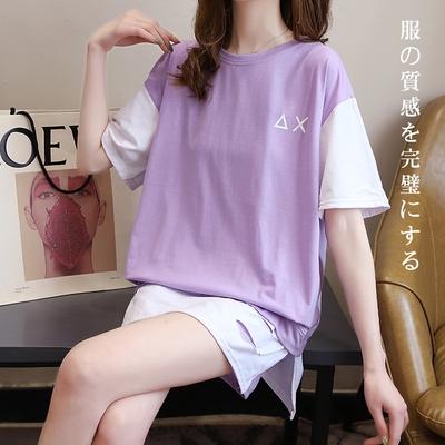 悠美學-日系簡約甜美個性撞色造型套裝-3色(M-2XL)