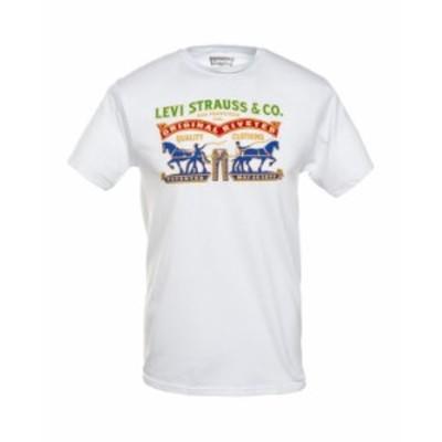 リーバイス メンズ Tシャツ トップス Men's Logo Graphic T-Shirt White