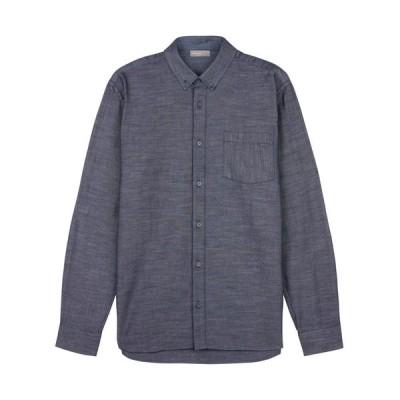 【残り1点!】【サイズ:XL】イエ−ガ− Jaeger メンズ トップス シャツ Cotton Tencile Shirt blue