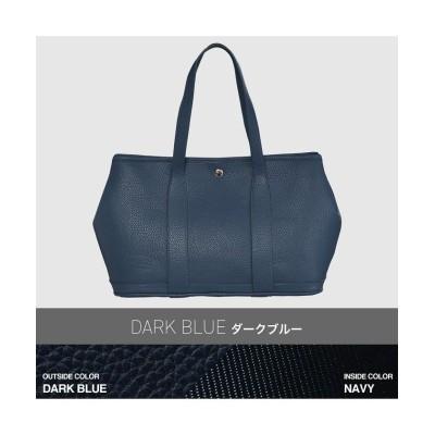 【カリエ】 大人シンプルで幅広いシーンで活用できるトートバッグ riche-m レディース ダーク ブルー - kalie