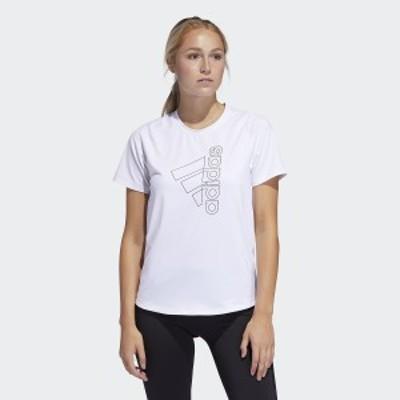 アディダス レディーススポーツウェア ワークアウトTシャツ TOPS W D2M TECH BOS Tシャツ IEL31 FQ1987 レディース ホワイト/ブラック