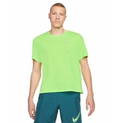 ナイキ メンズ シャツ トップス Dri-Fit¢ Miler Top Short Sleeve Ghost Green/Ref