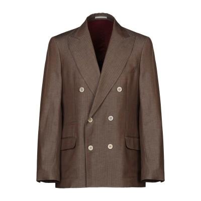 ブルネロ クチネリ BRUNELLO CUCINELLI テーラードジャケット ブラウン 48 ウール 60% / リネン 40% テーラードジャケ