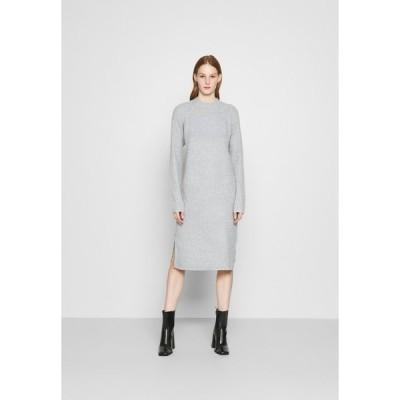 ピーシーズ ワンピース レディース トップス PCDISA  - Jumper dress - light grey melange
