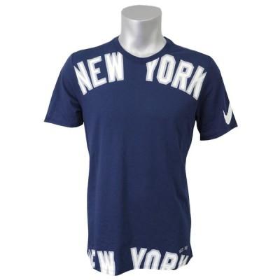 MLB ヤンキース ビッグ ワードマーク ドライフィット Tシャツ ナイキ/Nike ネイビー トレーニング特集【OCSL】