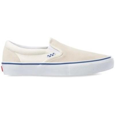バンズ メンズ スニーカー シューズ Vans Skate Slip-On Shoes Off White