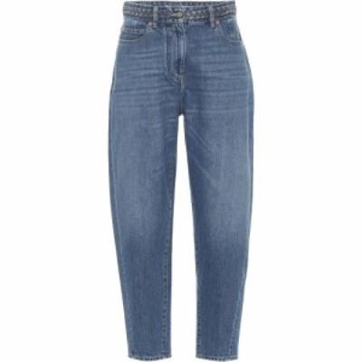ヴァレンティノ Valentino レディース ジーンズ・デニム ボトムス・パンツ High-rise tapered jeans Medium Blue Denim