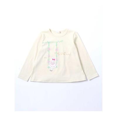 【KP(ケーピー)】mimiちゃんのブランコ刺繍Tシャツ(100-130cm)
