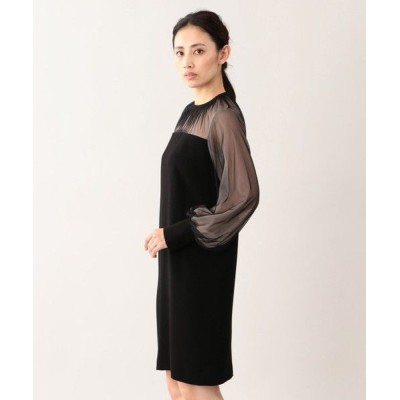 EPOCA/エポカ バックサテンジョーゼットドレス ブラック1 40