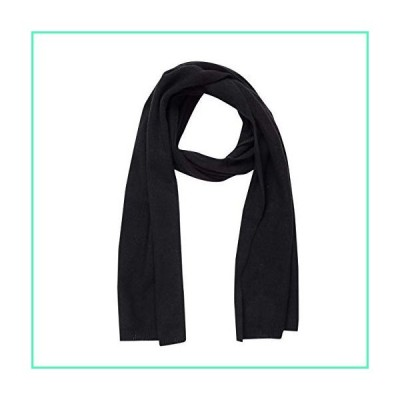 Cashmere Scarf for Women - 100% Pure Luxury Knit - Lightweight, Ultra Soft, Warm with Beautiful Silk Keepsake Gift Bag (Black)並行輸入品