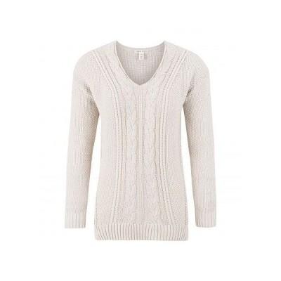 Tribal トリバル レディース 女性用 ファッション セーター V-Neck Cable Sweater - Bone