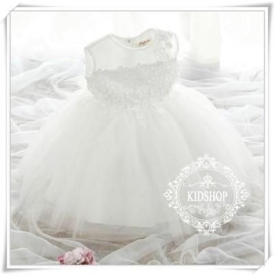 子供ドレス発表会結婚式キッズフォーマルドレスワンピース子供服 女の子フラワーガールホワイト