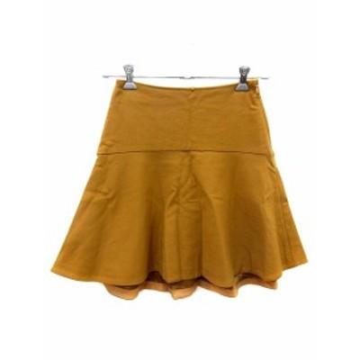 【中古】ジュエルチェンジズ Jewel Changes アローズ スカート フレア ミニ 36 キャメル 茶 ブラウン /AU レディース