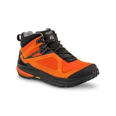 Topo Athletic Trailventure メンズ ミッドハイト ハイキングブーツ、オレンジ/ブラック、8.5