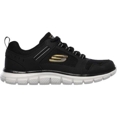 スケッチャーズ スニーカー シューズ メンズ SKECHERS Men's Track Knockhill Walking Shoes Black/Gold