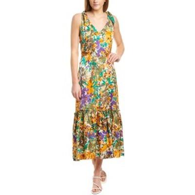 ワーム レディース ワンピース トップス warm Georgia Silk Maxi Dress multicolor