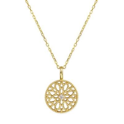 K10イエローゴールドダイヤモンドロングネックレス