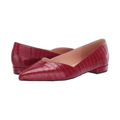 J.Crew レディース 女性用 シューズ 靴 フラット Croc Pieced Harlech Ballet - Rich Scarlet