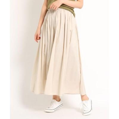 Dessin / デッサン 【洗える】【ウエストゴム】レーヨン混ギャザースカート