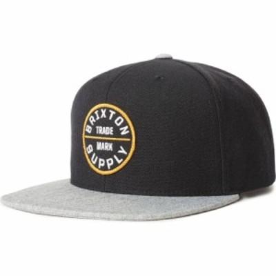 ブリクストン BRIXTON メンズ キャップ ベースボールキャップ スナップバック 帽子 Oath III Snapback Baseball Cap Black/Heather Grey